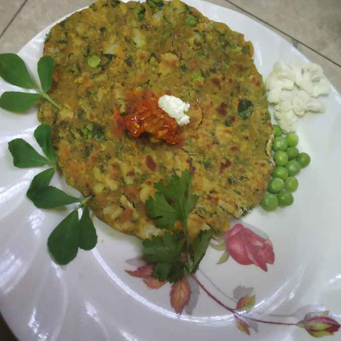 Photo of Cauliflower jowar paratha by sunita(Deepa) Gandhi at BetterButter