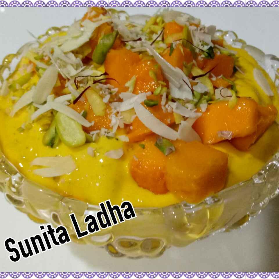 Photo of Shahi mango cream by Sunita Ladha at BetterButter