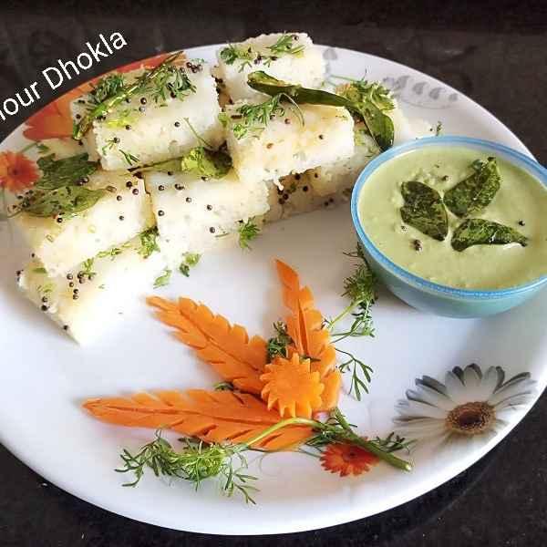 How to make Rice flour dhokla
