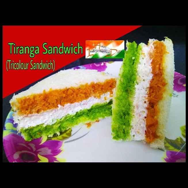 How to make Tiranga sandwitch