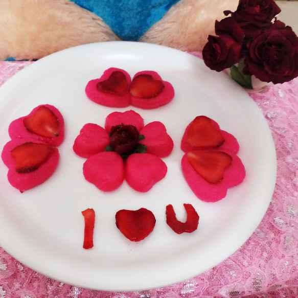 How to make Strawberry flavoured heart wala rasgulla