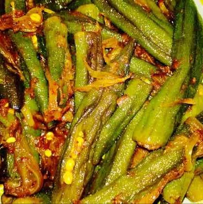 Photo of Stuffed okra/bhindi & onion fry by Sunita Sharma at BetterButter