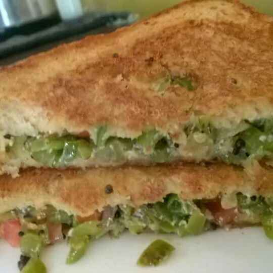 How to make Cheese veg sandwich