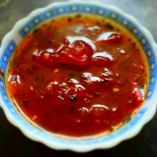 How to make Sweet & Savory Bengali Tomato Chutney