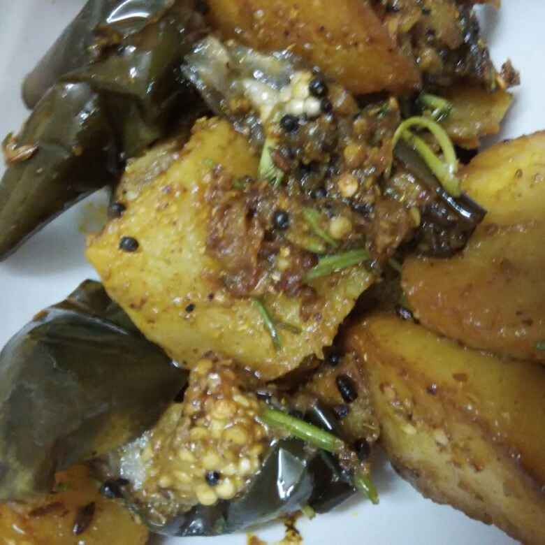 Photo of Fried Brinjals and  Potatoes by Supriya Bhatia at BetterButter