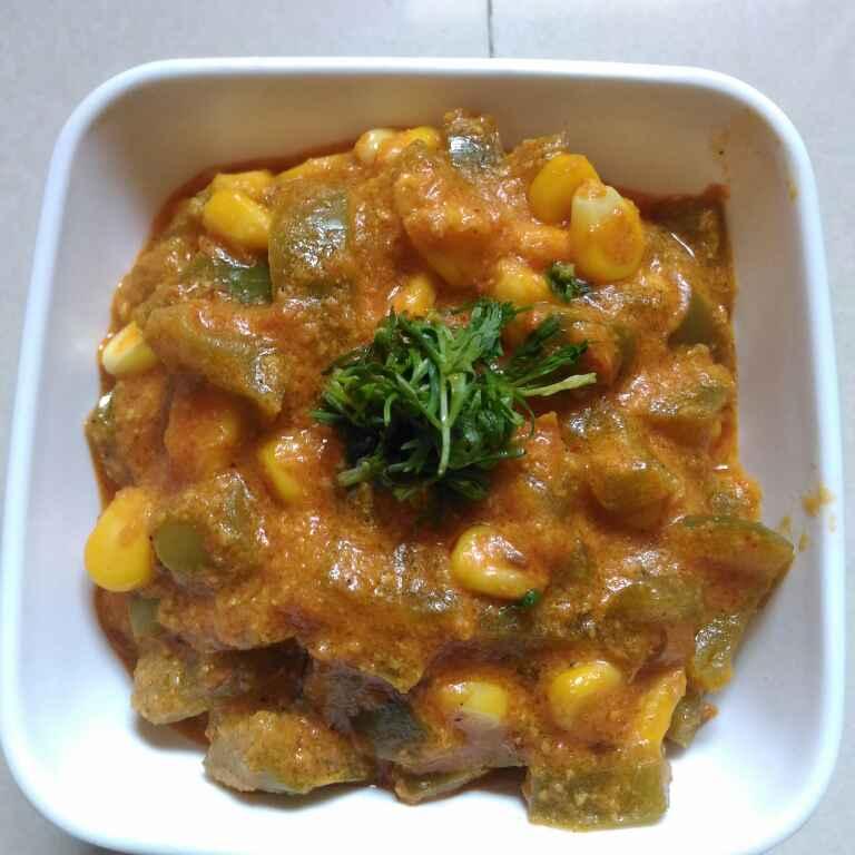 Photo of sweet  corn simla mirchi masala by supriya padave (krupa rane) at BetterButter