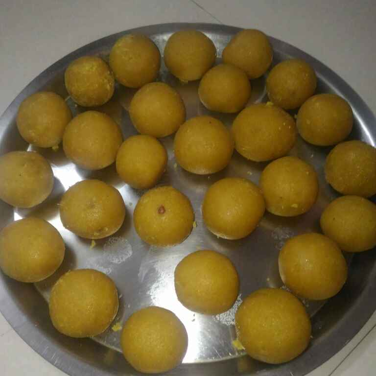 Photo of besan puri ladu by supriya padave (krupa rane) at BetterButter