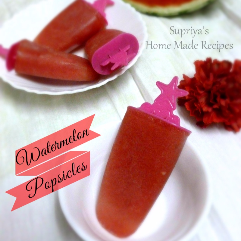 Photo of Watermelon Popsicles by Supriya Santosh at BetterButter