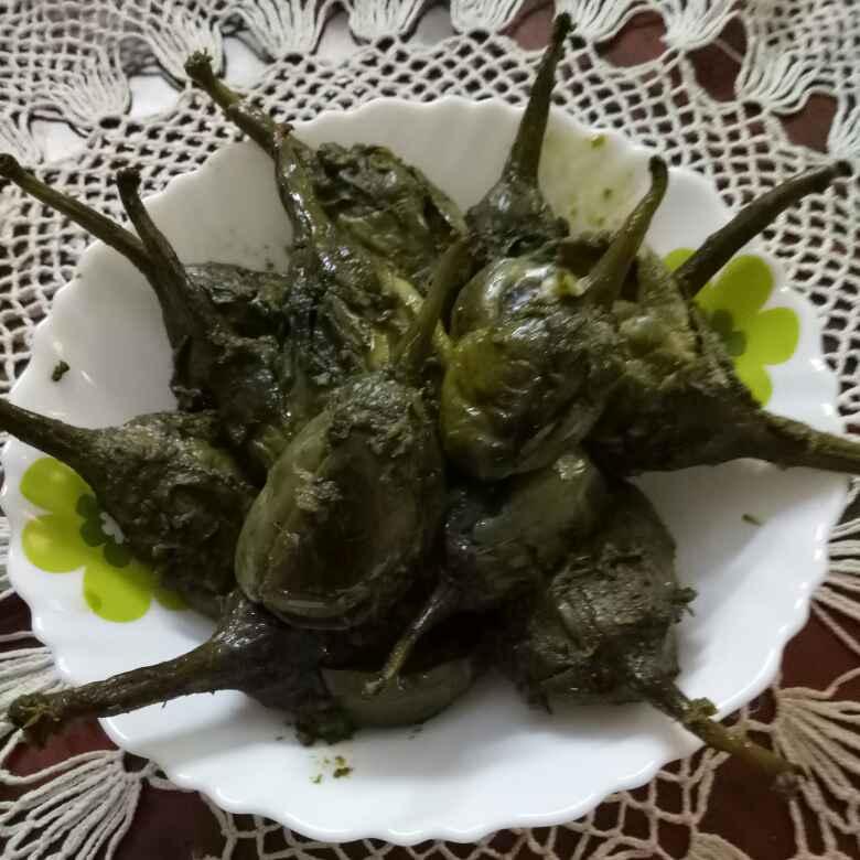 How to make Coriander masala Stuffed brinjal curry