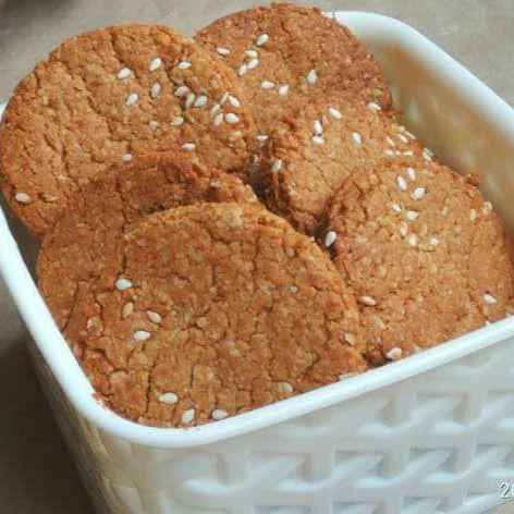 Photo of Soya , sesame cookies by lakshmi kumari at BetterButter