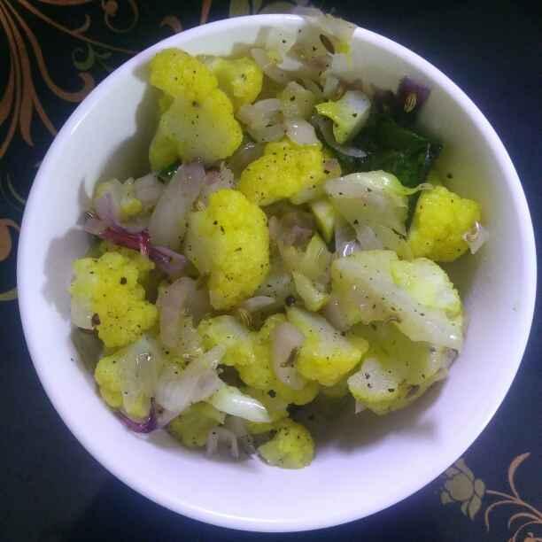 Photo of Cauliflower pepper fry by Surya Rajan at BetterButter