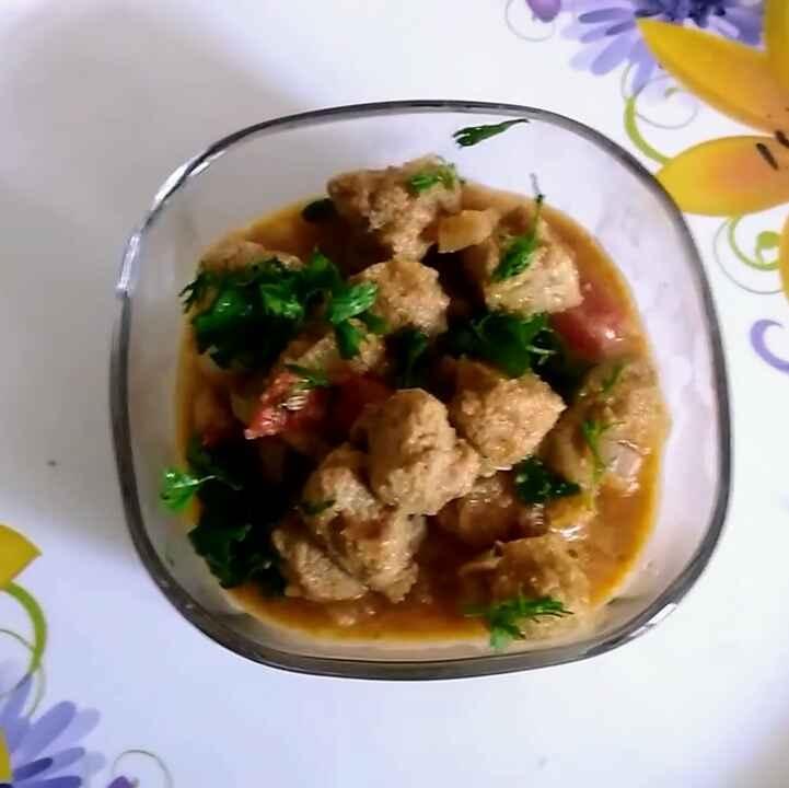 How to make Soya chunks gravy