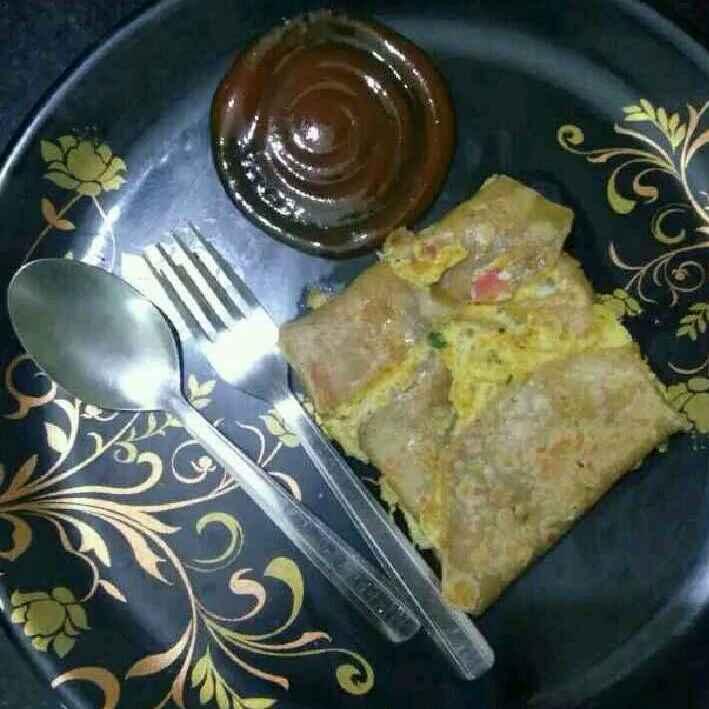Photo of Egg and veg stuffed chappathi by Surya Rajan at BetterButter