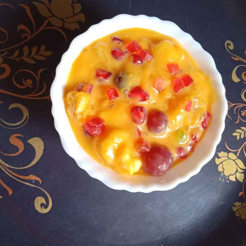 How to make Fruit and nuts custard