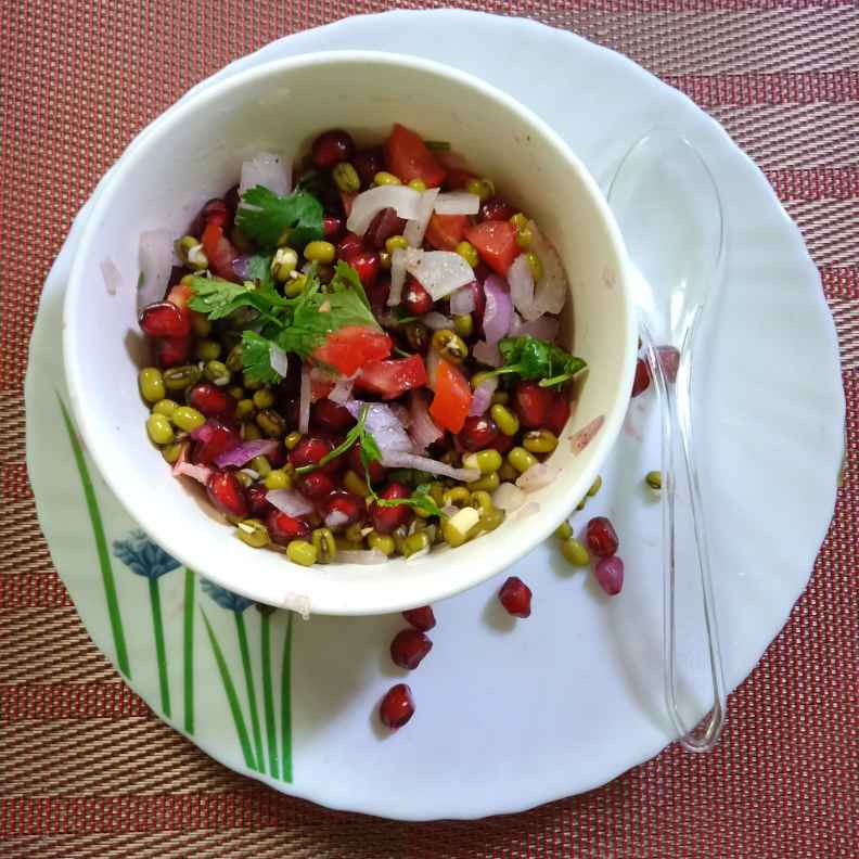 Photo of Sprouted green gram pomegranate salad by Surya Rajan at BetterButter