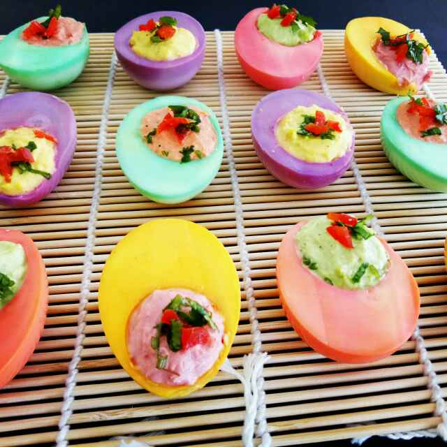 How to make Colourful Egg Salad