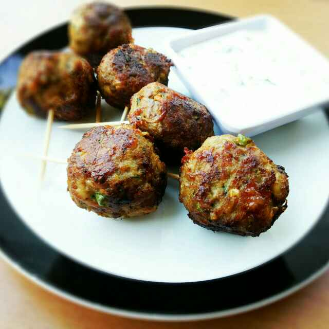 Photo of Moroccan Lamb Meatballs With Yoghurt Sauce by Sushama Samanta at BetterButter