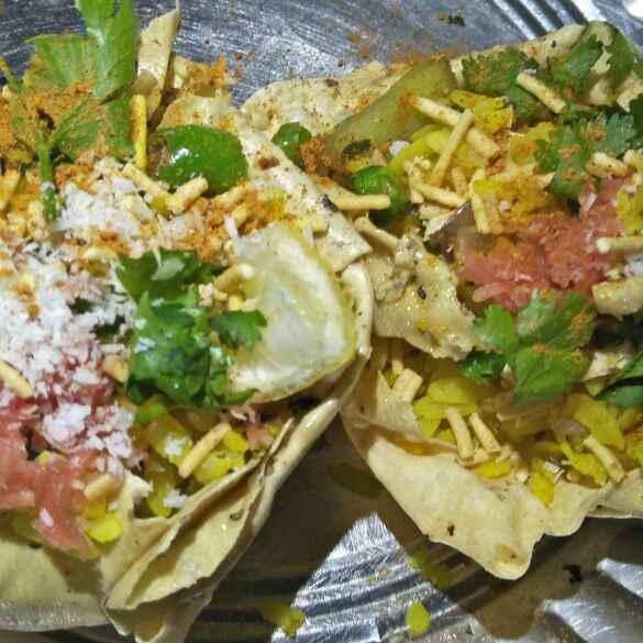 How to make Indore ke famous poha katori papad