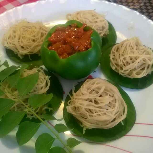 How to make Sauteed chicken wraped in rice noodles (keema stuffed idiyappam)