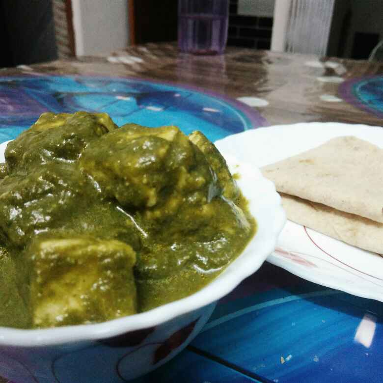 How to make Cottage Cheese in Spinach Gravy (Palak Paneer)