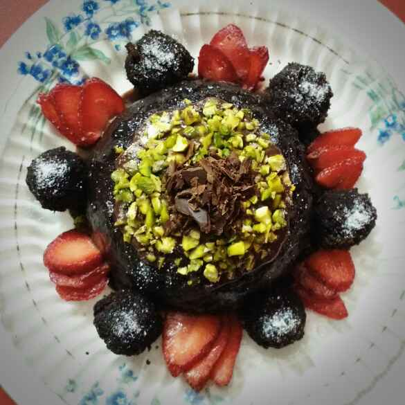 Photo of Eggless Decadent Chocolate Dessert Cake by Swagata Banerjee at BetterButter