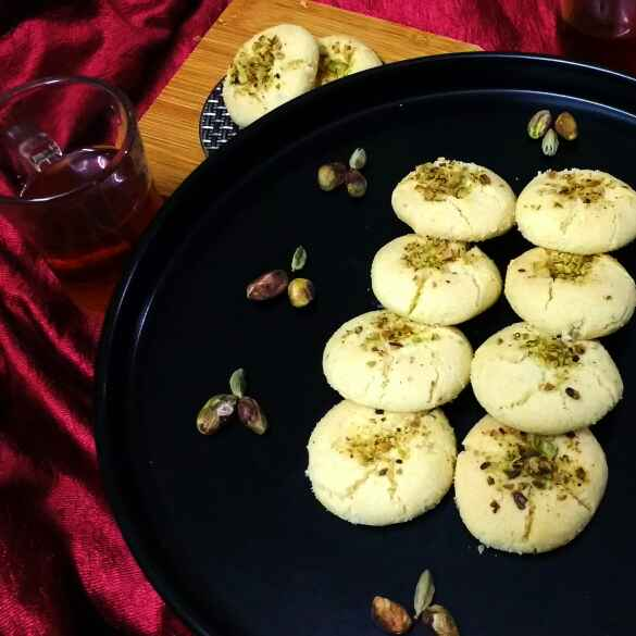 Photo of Nankhatai (Biscuits with Bengal Gram Flour) by Swagata Banerjee at BetterButter