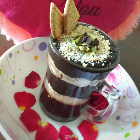 Photo of Nutty Chocolate and Biscuit Dessert Cup by Swagata Banerjee at BetterButter