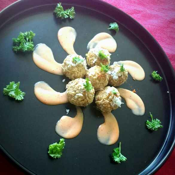 Photo of Oats Crusted Cheesy Baked Chicken Nuggets by Swagata Banerjee at BetterButter