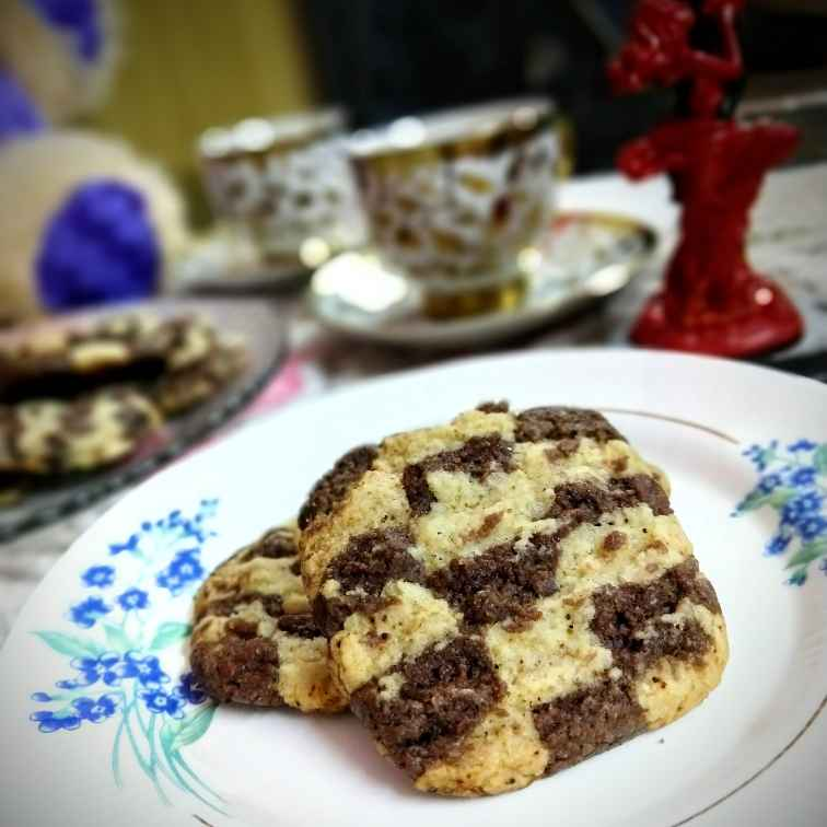 Photo of Eggless Checkerboard Cookies by Swagata Banerjee at BetterButter