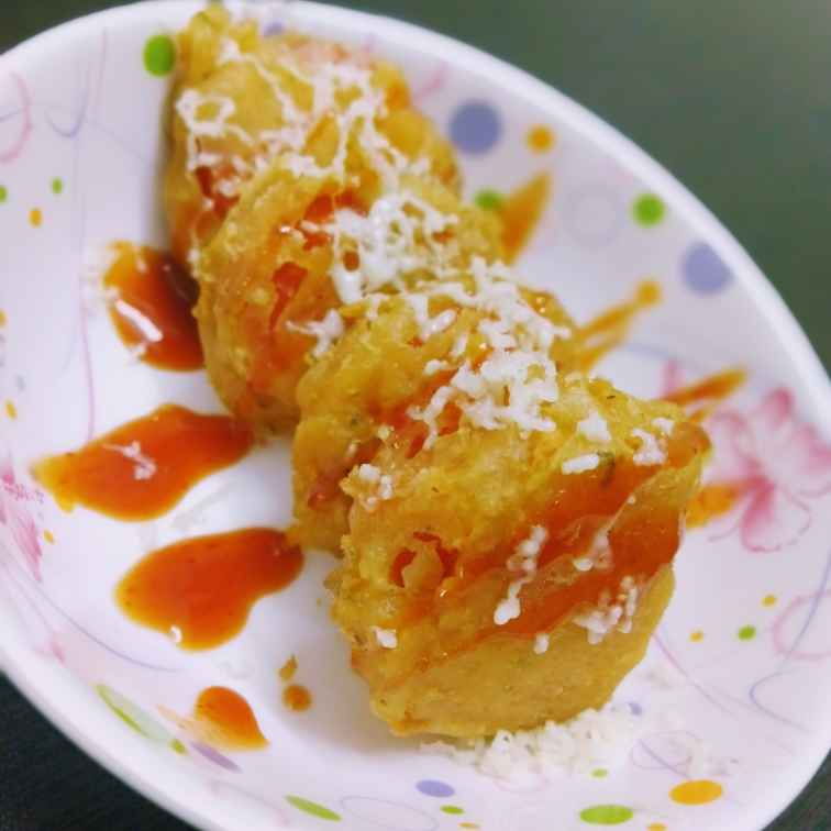 Photo of Cheese Stuffed Fried Tomatoes by Swagata Banerjee at BetterButter
