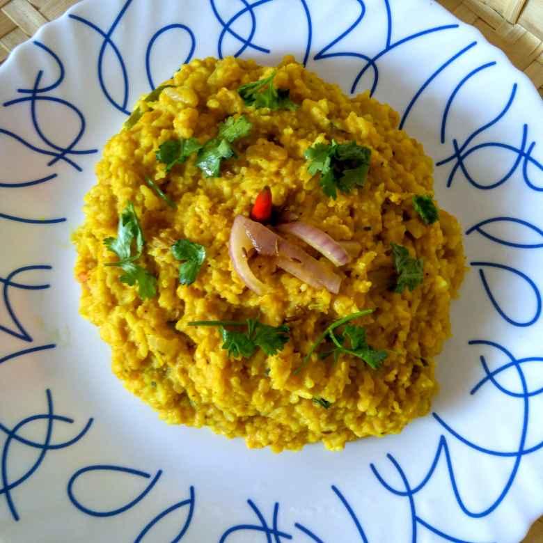 How to make Musur daler khichuri