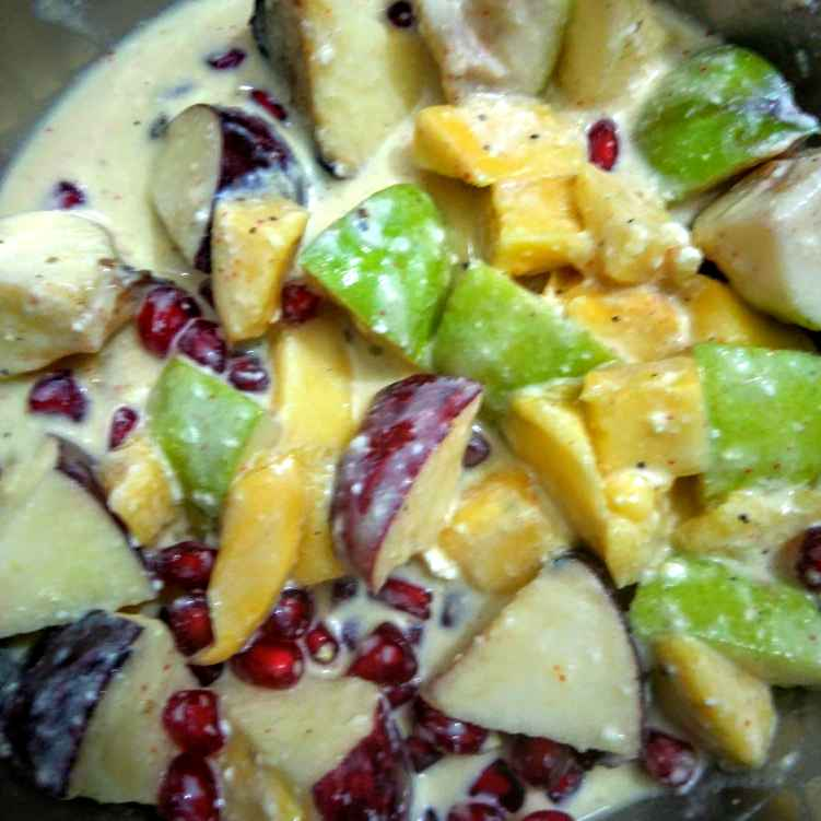Photo of Mixed fruit custard with curd by Swagata Roy at BetterButter