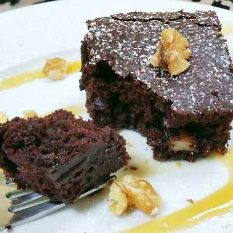 Photo of Eggless and Butterless Cocoa Walnut Brownies by Swapna Sunil at BetterButter