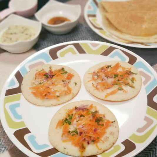 How to make Ground Rice Uthappam !