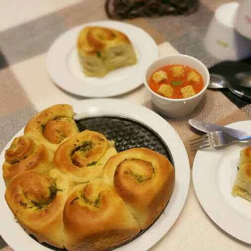 Photo of Garlic Pull Apart Rolls - Wholewheat and Eggless  by Swapna Sunil at BetterButter