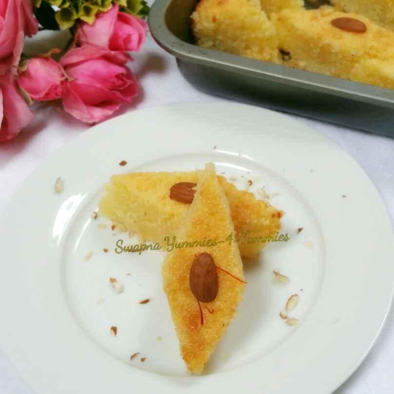 How to make Basbousa/ Revani/ Hareesa !! A Turkish delight !!