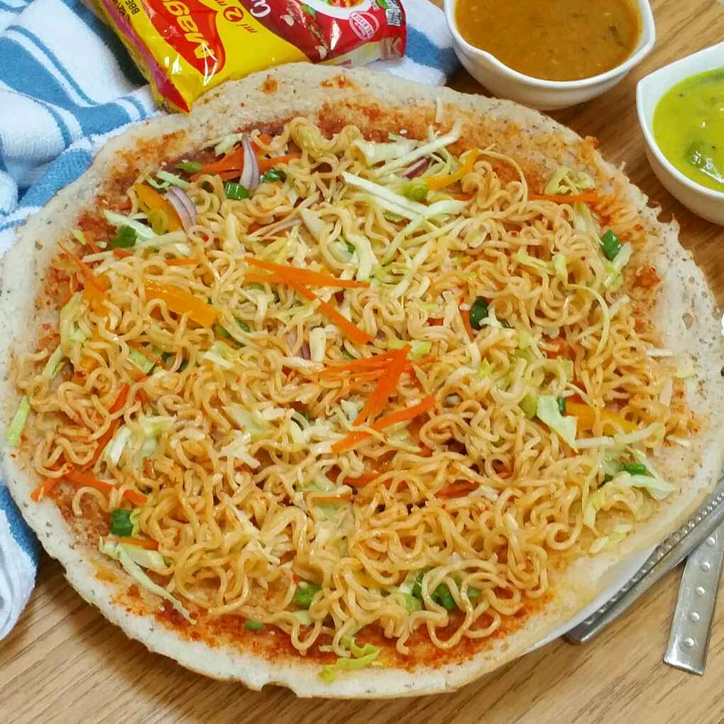 How to make Schezwan Maggi noodle Dosa