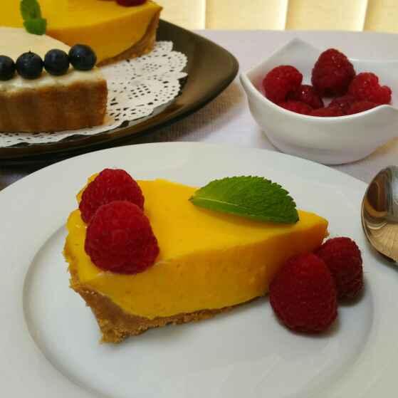 How to make Mango Vanilla Shrikand Tart !