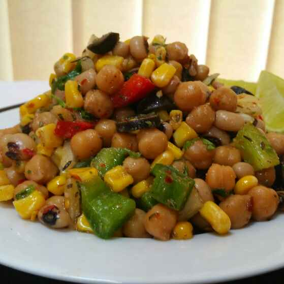 How to make Bean salad with herb dressing !