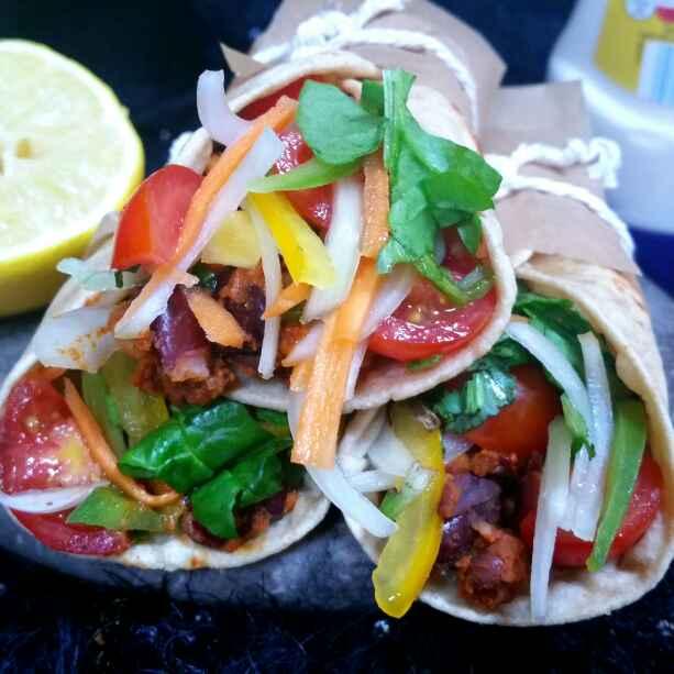 How to make Roti rajma wrap