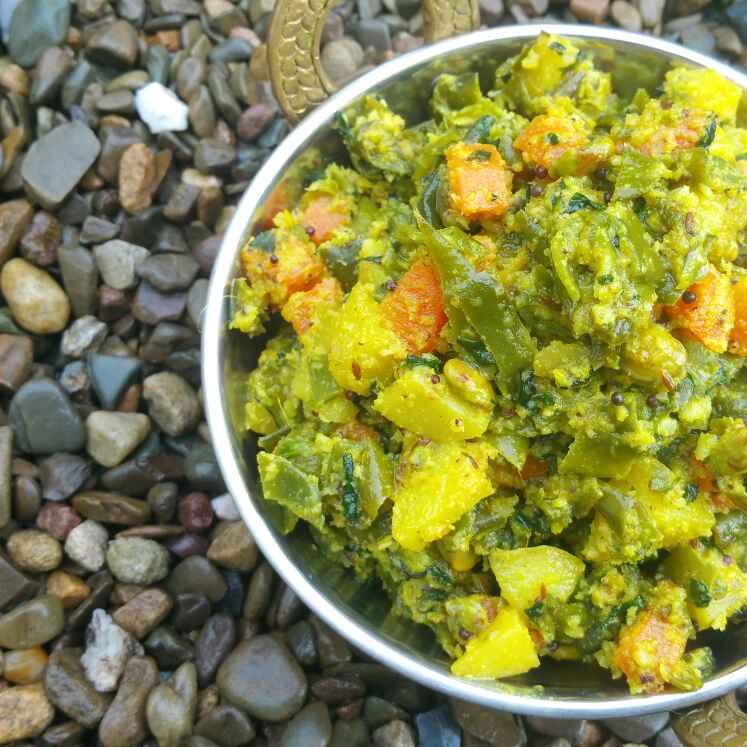 Photo of Kalle koora - Mixed winter Vegetable Poriyal by Swapna Sunil at BetterButter