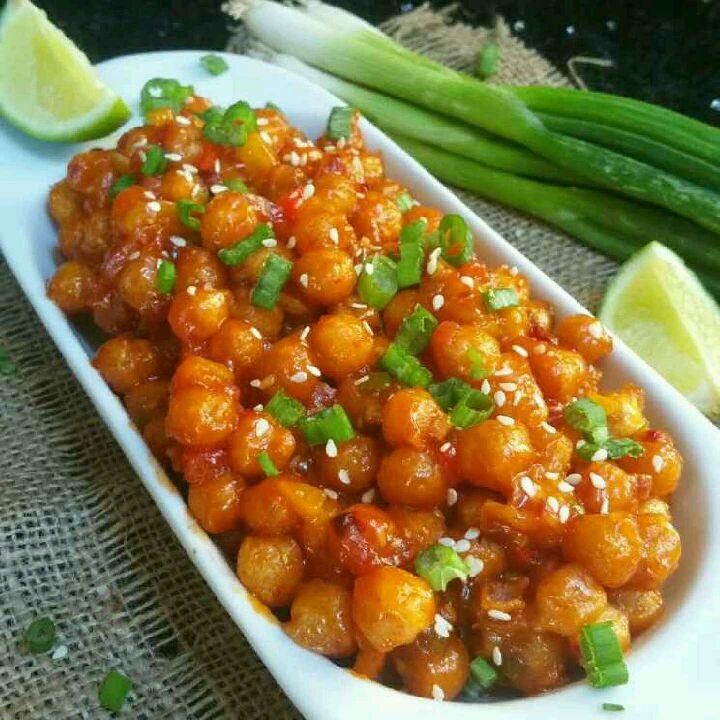 How to make Kabuli Chana chili