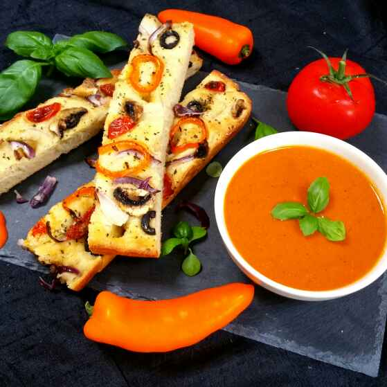 Photo of Roasted Tomato and Red pepper soup by Swapna Sunil at BetterButter