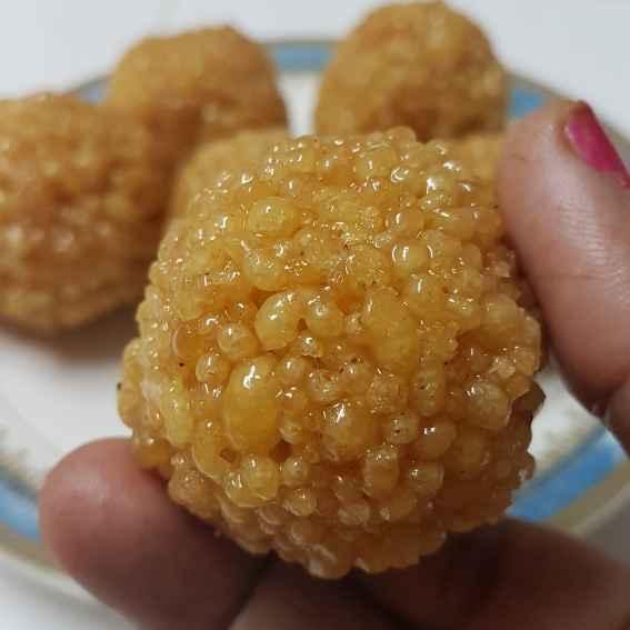 Photo of Crunchy boondi laddu. by Swapna Sashikanth Tirumamidi at BetterButter