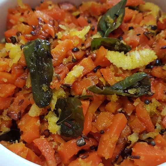 Photo of Carrot coconut curry. by Swapna Sashikanth Tirumamidi at BetterButter