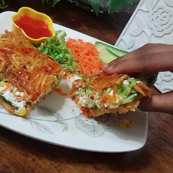 Photo of Potato stuffed rosti by Swapna Sashikanth Tirumamidi at BetterButter