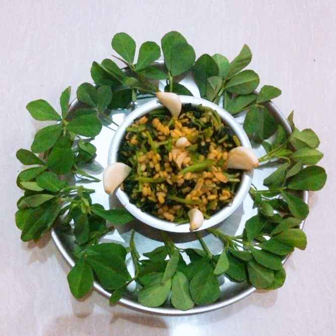 Photo of Moog dal methi bhaji by Swapnal swapna p at BetterButter