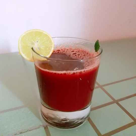 Photo of Healthy lemon mint beetroot carrot juice by Swapnal swapna p at BetterButter