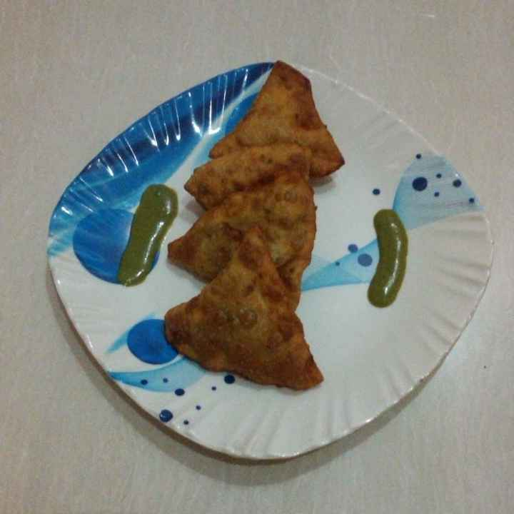 Photo of Wheat flour healthy matar samose by Swapnal swapna p at BetterButter