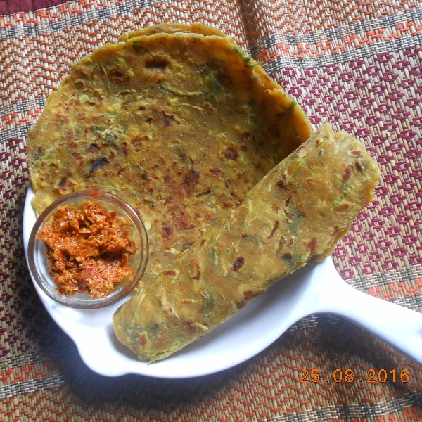 How to make Dudhi Thepla